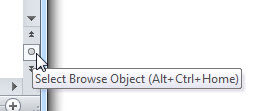 word 2010 object browser
