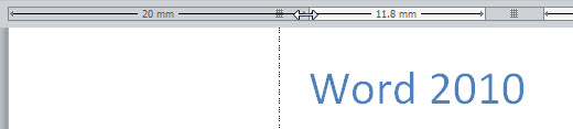 word 2010 ruler measure
